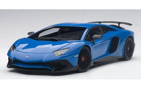 ランボルギーニ アヴェンタドール LP750-4 SV ブルー (1/18 オートアート74559)