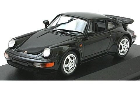ポルシェ 911 ターボ (964) 1990 ブラック (1/43 ミニチャンプス940069101)